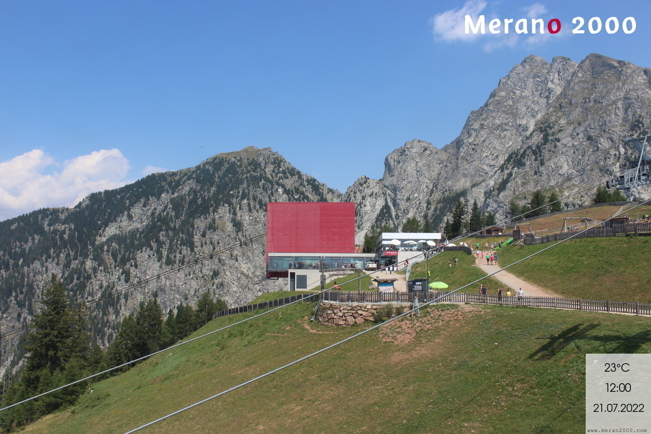 Stazione a monte - funivia Merano 2000